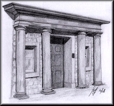 Doorway A Pencil Drawing By John W Johnston