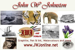 Leopard - a pencil drawing by John W Johnston