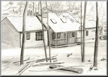 "The Lazy ""S"" - a Pencil drawing by John W Johnston"