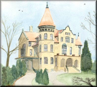 Holway House, La Crosse - a watercolour painting by John W. Johnston