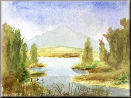 A gallery of watercolour paintings by John W Johnston