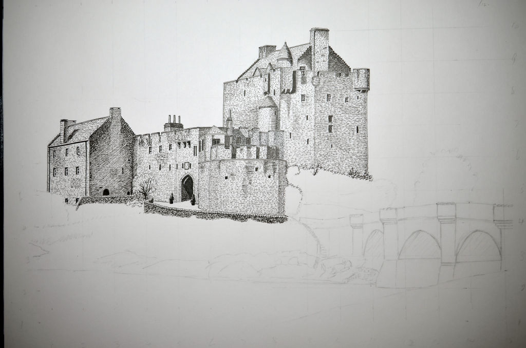 Image showing second stage of drawing
