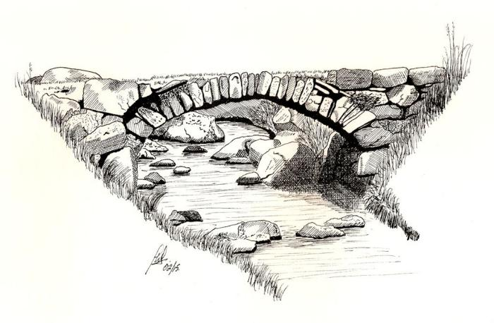 Pen and ink gallery for Small art drawings