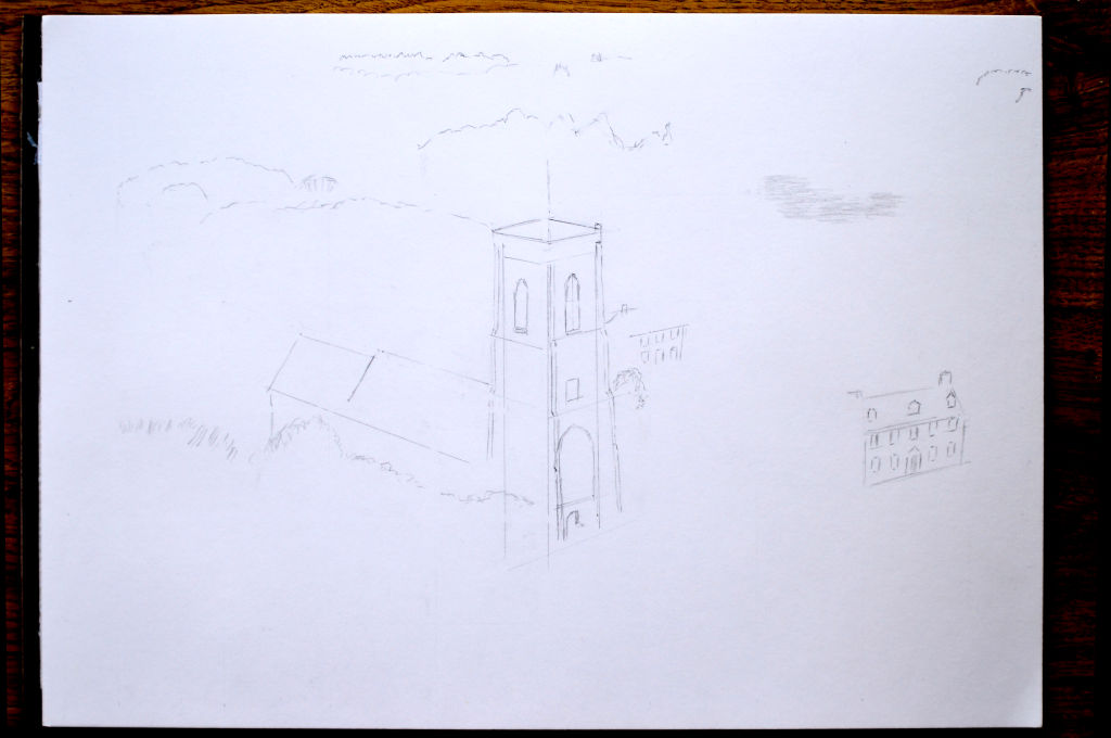 Image showing first stage of drawing
