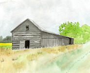 """Old Wooden Barn"" - This Old Wooden Barn was built in the early 1870's in Wisconsin, USA. It was built by the surviviors of the Great Peshtigo Fire as they began rebuilding their communities and their lives after that tragedy. It is amazing to think that the wood and timbers used, let alone the primitive building techniques, can have withstood the test of time so well."