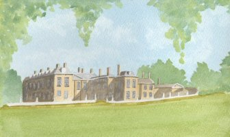 Painting of Althorp House, Northamptonshire