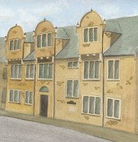 Painting of Hazelrigg House, Northampton