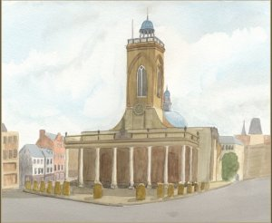 Painting of All Saints Church, Northampton