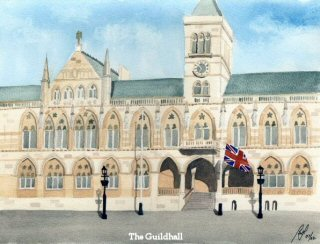 Painting of The Guildhall, Northampton